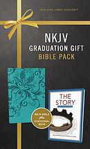 NKJV, Graduation Gift, Bible Pack for Her, Blue, Red Letter Edition