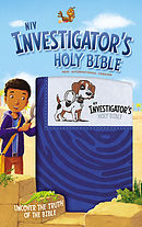 NIV Investigator\'s Holy Bible, Leathersoft, Blue: Uncover the Truth of the Bible