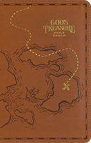 NIV God's Treasure Holy Bible, Leathersoft, Dark Tan: Golden Promises and Priceless Stories