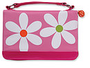 Microfibre Daisy Bible Cover: Pink,  Large
