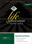 NASB Life Application Study Bible: Black, Bonded Leather