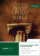 NASB Study Bible: Black, Bonded Leather
