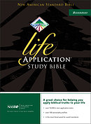 NASB Life Application Study Bible: Black, Top Grain Leather, Thumb Index