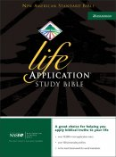 NASB Life Application Study Bible: Black, Bonded Leather, Thumb Index