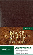 NASB Reference Bible: Burgundy, Leather-Look, Giant Print, Personal Size
