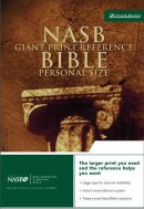 NASB Personal Size Reference Bible: Burgundy, Bonded Leather, Giant Print