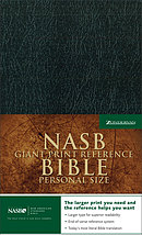 NASB Reference Bible: Black, Leather-Look, Giant Print, Personal Size