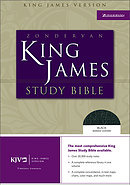 KJV Study Bible: Black, Bonded Leather