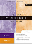 KJV / Amplified Parallel Bible: Black, Bonded Leather, Large Print