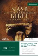 NASB Reference Bible: Black, Bonded Leather, Giant Print, Personal Size