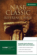 NASB Classic Reference Bible: Black, Top Grain Leather