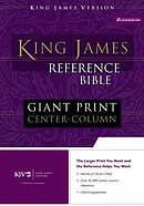 KJV Giant Print Bible: Navy, Bonded Leather, Thumb Index