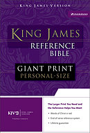 KJV Giant Print Personal Size Reference Bible: Black, Bonded Leather