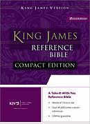 KJV Compact Bible: Burgundy, Bonded Leather, Button Flap