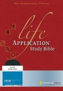 NIV Life Application Study Bible: Bonded Leather, Black