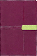 KJV Study Bible: Plum/Melon Green, Italian Duo Tone