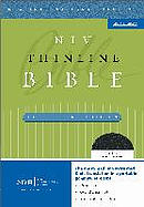 NIV Thinline Bible: Black, Bonded Leather, Large Print