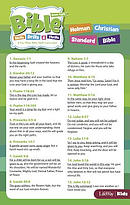 Bible Skills, Drills, & Thrills: Green Cycle Verse Cards - HCSB (Pkg/10)