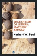 English Men of Letters; Matthew Arnold