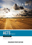 Acts for Everyone, Part 2-Enlarged Print Edition: Chapters 13-28