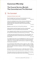 Common Worship: Committal Service Card