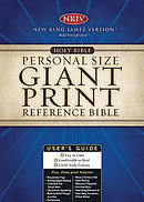 NKJV Personal Size Reference Bible: Black,  Bonded Leather, Giant Print
