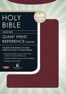 NKJV Personal Size Giant Print Reference Bible Bonded Leather Burgundy