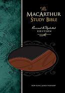 NKJV MacArthur Study Bible: Black & Terracotta,  LeatherSoft