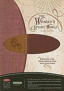 NKJV Woman's Study Bible: Chestnut Brown/Burgundy,  LeatherSoft, Thumb Index