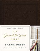 KJV, Journal the Word Bible, Large Print, Bonded Leather, Brown, Red Letter Edition