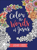 Color the Words of Jesus 2018 Weekly Planner