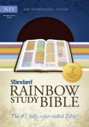 NIV Standard Rainbow Study Bible Bonded Leather Brown