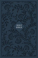 KJV, Reference Bible, Giant Print, Cloth Over Board, Blue, Red Letter Edition