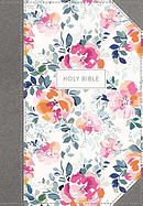 KJV, Journal the Word Bible - Pink Floral, Red Letter Edition, Comfort Print