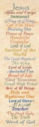 Names Of Jesus Bookmark Pack of 25