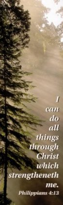 Bookmark-I Can Do All Things Through Christ (Philippians 4:13 KJV) (Pack of 25)