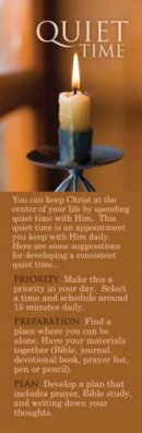 Bookmark-Adult Quiet Time (Hebrews 10:22 KJV) (Pack of 25)