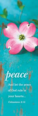 Bookmark-Peace (Colossians 3:15 KJV) (Pack of 25)