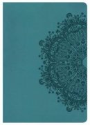 Nkjv Super Giant Print Reference Bible, Teal Leathertouch, I