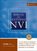NVI Biblia de Estudio Spanish Study Bible Imitation Leather Black Thumb Index