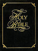 KJV Family Faith And Values Bible Padded Cover Black