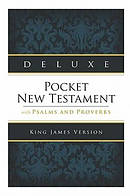 KJV Deluxe Pocket New Testament With Psalms And Proverbs
