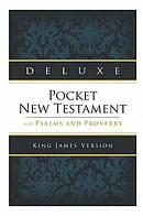 KJV Deluxe Pocket New Testament  Imitation Leather Navy
