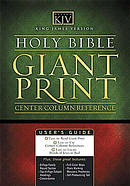 KJV Giant Print Bible: Black, Leatherflex,
