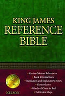 KJV Reference Bible: Black, Bonded Leather