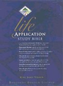 KJV Life Application Study Bible: Burgundy, Bonded Leather,