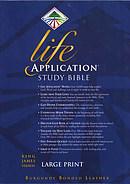 KJV Life Application Study Bible: Burgundy, Bonded Leather, Large Print