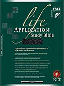 NLT Life Application Study Bible: Black, Bonded Leather, Thumb Index