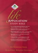 NIV Life Application Study Bible: Burgundy, Bonded Leather