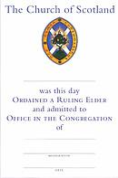 Ordained A Ruling Elder Certificate